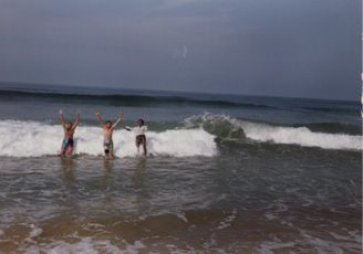 Beat the Wave - In Goa's Calangute's Beach.